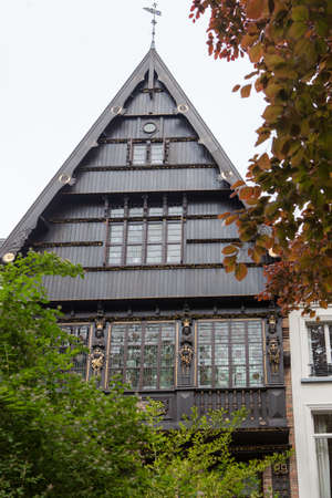 old photo: old house of Bruges