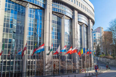 European Parliament offices in the Brussels, Belgium. Stock Photo
