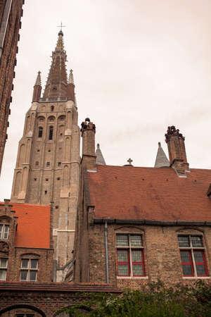 Bruges complex of the medieval St. Johns hospital. Bruges, Belgium. Stock Photo