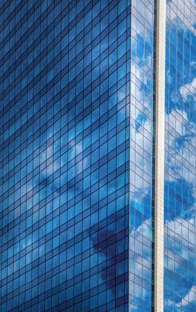 Skyscraper against blue sky Stock Photo