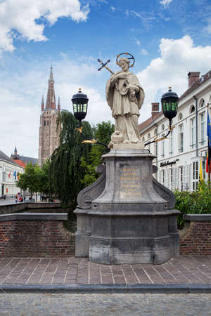 Statue of Johannes Nepomucenus Stock Photo
