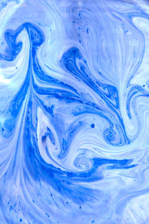 Marble effect of mixing duotone painting background. 스톡 콘텐츠