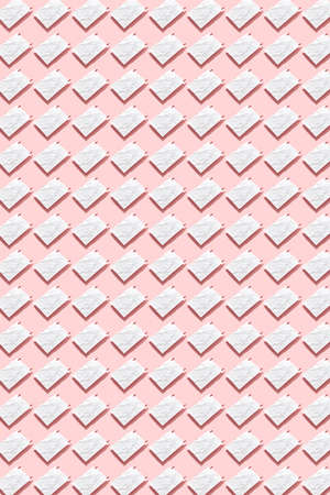White crumpled paper sheets with pins pattern.