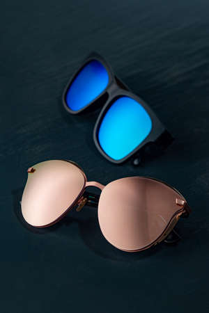 Modern accessory sun glasses for protection eyes. Stock Photo
