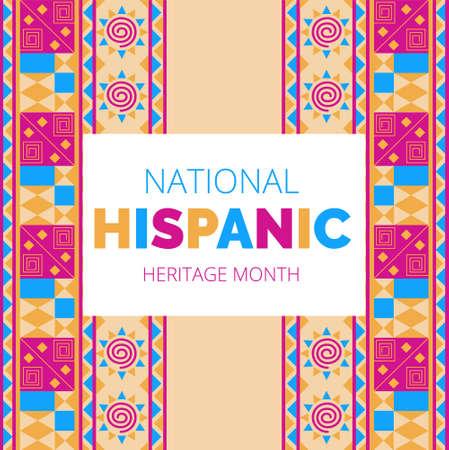 National Hispanic Heritage Month gefeiert vom 15. September bis 15. Oktober USA.