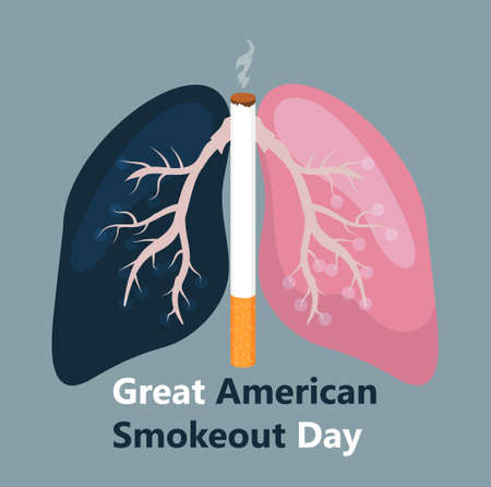 Great American Smokeout Day is organized on the third Thursday of November in USA.