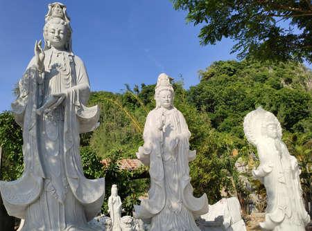DA NANG, VIETNAM - 22 NOVEMBER: Marble mountains scenic view near Da Nang city.