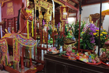 The altar is located in Ngoc Son temple, it is near the lake of the returned sword and lake of green water Ho Hoan Kiem in the center of Hanoi.
