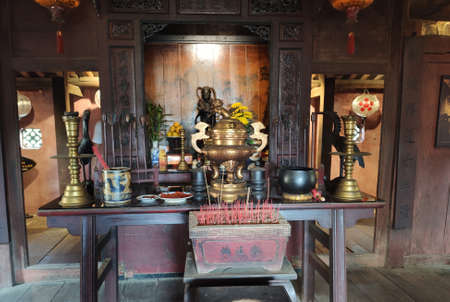 Interior of old house in the Hoi An ancient city in Quang Nam province in Central Vietnam.