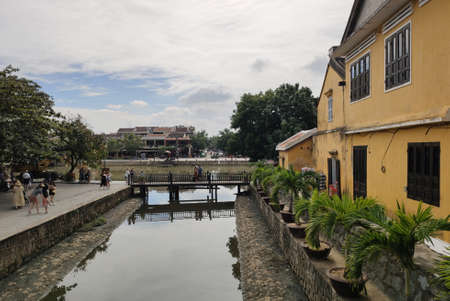 View of the Japanese bridge in Hoi an in Quang Nam province in Central Vietnam. UNESCO world heritage site.