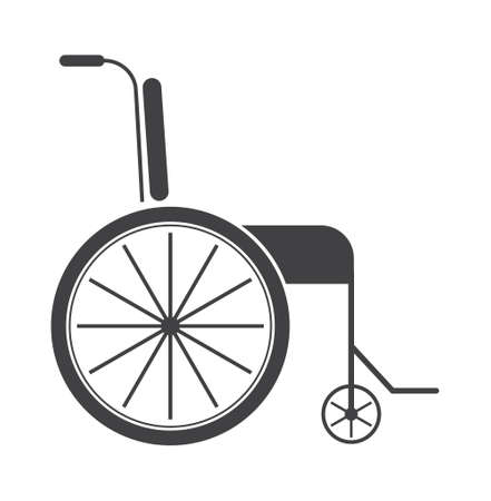 Wheelchair icon vector. Wheelchair for disabled and inclusive