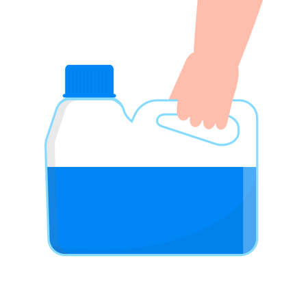 Hand sanitizer application vector. Personal hygiene dispenser, infection control symbol. Antivirus protection illustration. Gel is dropping on hand. Coronavirus prevention instruction.