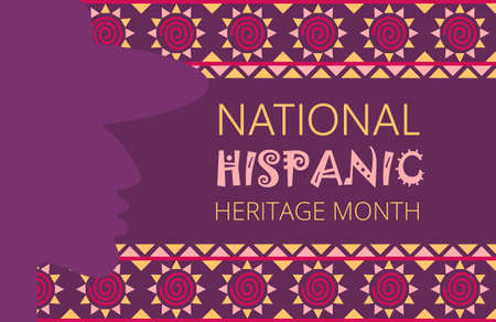 National Hispanic Heritage Month celebrated from 15 September to 15 October USA. Latino American poncho ornament vector for greeting card