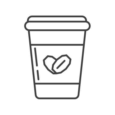 Oatmeal yogurt icon in outline style. Porridge in plastic container symbol. ereal and fast breakfast are shown. Oatmeal ottage cheese, sour cream, kefir, milk