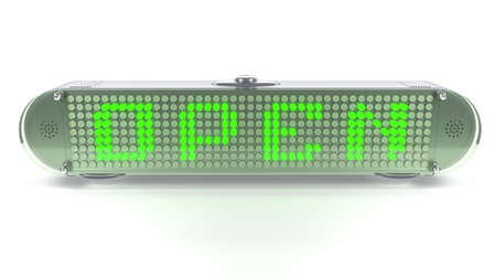 led display: Opened status display in digital pin with emitting LED light