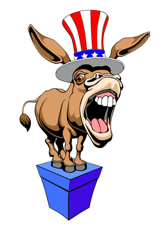 American Donkey Democrat symbol Illustration