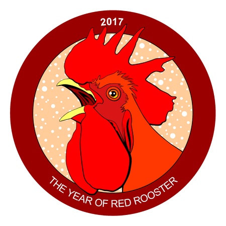 Red rooster, symbol of 2017 on the Chinese calendar.