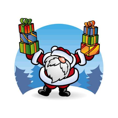 ??? ????? Santa Claus ? ????????? Vector