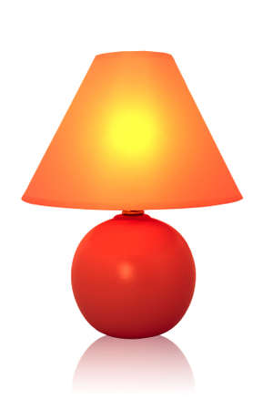 Table lamp on white background