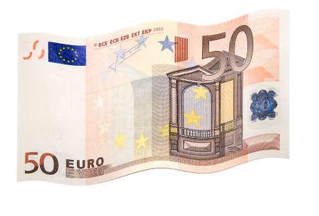 deposit slip: fluttering euro on white background Stock Photo
