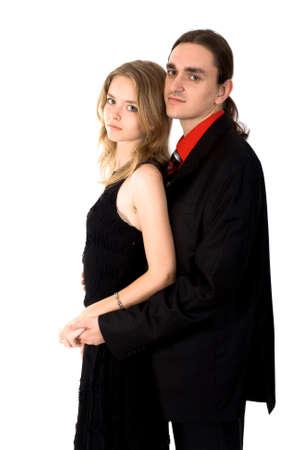 loving couple.  isolated on white Stock Photo