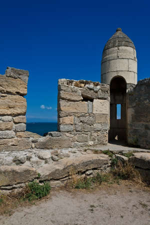 Ruins of ancient turkish fortress on sea coast in Kerch, Crimea  Stock Photo - 13239237