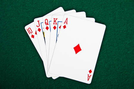 cards for the poker on the table Stock Photo - 13354771