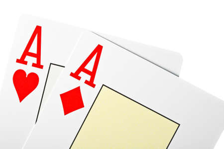 playing poker cards isolated on white background Stock Photo - 14185342