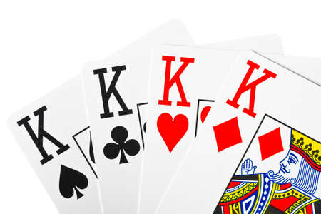 playing poker cards isolated on white background  Stock Photo - 14185401