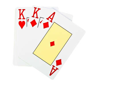playing poker cards isolated on white background  Stock Photo - 14185336