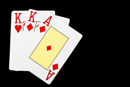 playing poker cards isolated on black background Stock Photo - 14297458