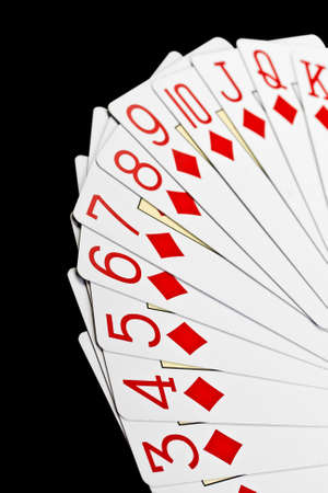 playing poker cards isolated on black background Stock Photo - 14392791
