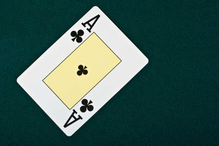 cards for the poker on the table Stock Photo