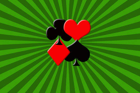 illustration of abstract background with suits of poker  cards Stock Photo