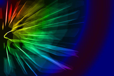 abstract neon laser  rays on black background