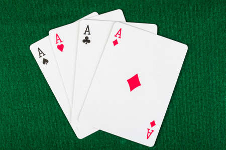 cards for the poker on the table Stock Photo - 16406592