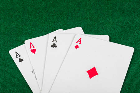 cards for the poker on the table Stock Photo - 16406594
