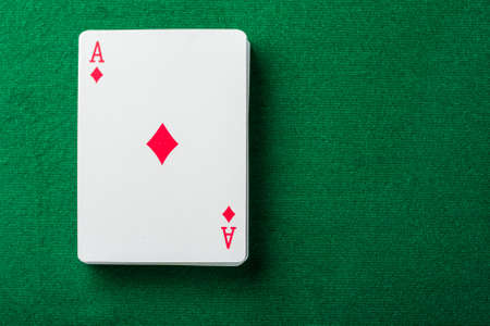 cards for the poker on the table Stock Photo - 17360246