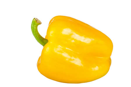 ripe yellow  pepper isolated on white background Stock Photo - 17892052