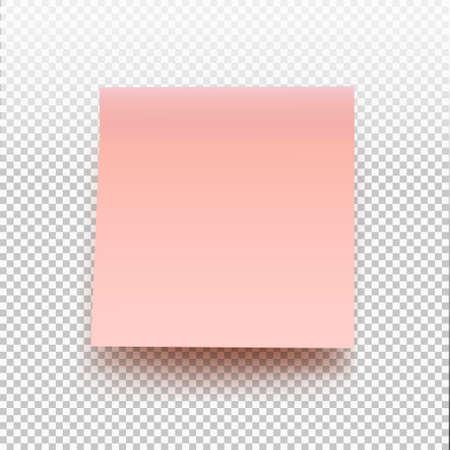Pense-bête rose isolé sur fond transparent. Illustration vectorielle post note pour votre conception. Banque d'images - 73273675