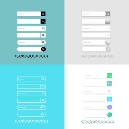 screen: Search bar vector element design, set of search boxes ui template isolated on white background. Style flat. Vector illustration EPS 10.
