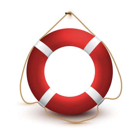 Lifebuoy. Vector illustration. Isolated on a white background