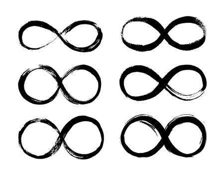Set of Infinity symbol, Eternal, limitless emblem. Illustration