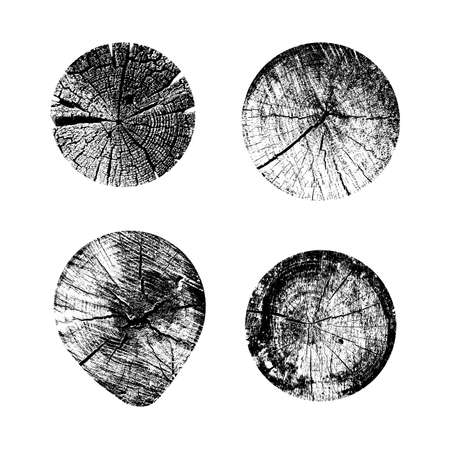 Set of tree rings background. For your design conceptual graphics. Vector illustration. Isolated on white background 일러스트
