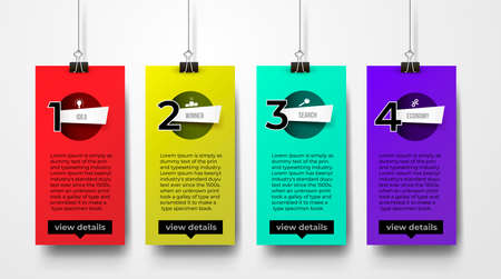 Set of banking onboarding icons concept. Vector illustration. Isolated on white background.