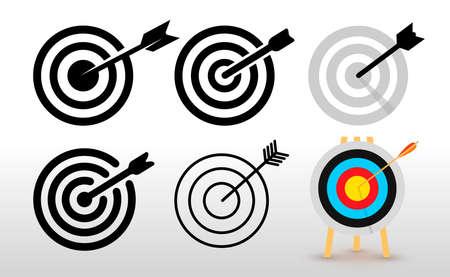 Set of target icon. Flat design element. Vector illustration. Isolated on white background. Ilustracja