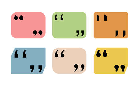 Set of Quote icon in trendy template. Vector illustration. Isolated on white background.