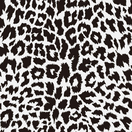 Pattern seamless leopard animal skin. Design jaguar, leopard, cheetah, panther fur. Brown seamless camouflage background. Vector illustration. Isolated on white background.