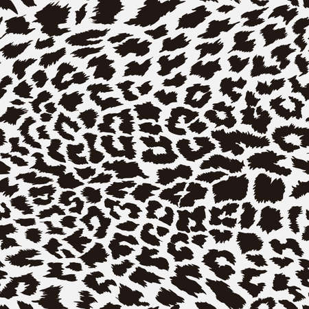 Seamless pattern leopard animal skin. Design jaguar, leopard, cheetah, panther fur. Brown seamless camouflage background. Vector illustration. Isolated on white background.