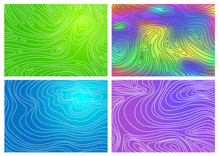Set of Colored natural elegant templates. A vague abstract with doodles in Indian style. A completely new design for your business. Vector illustration textured wave pattern for backgrounds. Illustration